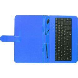 Etui z klawiaturą TRACER Etui z klawiaturą micro USB do tabletu 7 cali Niebieski