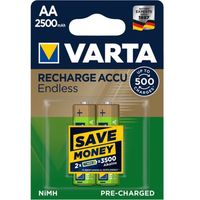 Varta akumulatory Endless 2 AA 2500 mAh 500 Cycles R2U 56686101402