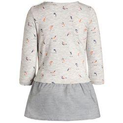 TOM TAILOR 2in1 Sukienka z dżerseju greyish beige melange