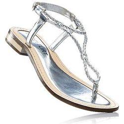 Sandały skórzane bonprix srebrny