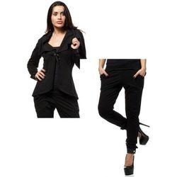 Zestaw Żakiet z dzianiny dresowej oraz spodnie czarne