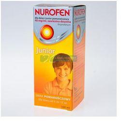 Nurofen Junior dla dzieci 4% /40mg/ml/ zawiesina doustna o smaku pomarańczowym 100ml Kurier już od 0 PLN odbiór osobisty: GRATIS!