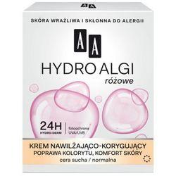 AA Hydro Algi Krem nawilżająco-korygujący rozświetlenie cery, redukcja podrażnień