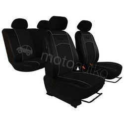 Pokrowce samochodowe uniwersalne Eko-skóra Czarne BMW Seria 1 F20/F21 od 2011 - Czarny