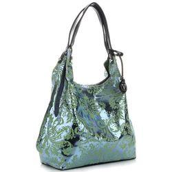 253b9a5ae3433 Velina Fabbiano Designerska Włoska Torebka Skórzana w modne wzory Glamour  Zielona (kolory)