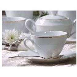 Serwis do kawy dla 6 osób porcelana Ćmielów Feston Złoty Pasek (3604)