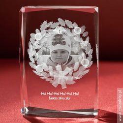 Zdjęcie w girlandzie - statuetka szklana. Dodaj własną dedykację ZA DARMO!