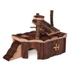Drewniany domek dla gryzoni