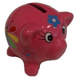 Skarbonka świnka różowa