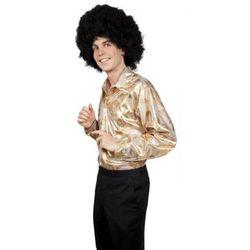 Koszula Disco złota we wzory - M, L, XL - stroje/przebrania dla dorosłych