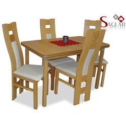 Zestaw AMAZONKA I 4 krzesła i stół 70x120/150