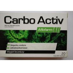 Carbo Activ Aflofarm kaps.twarde 0,2 g 20 kaps. (2 blist.po 10 szt.)