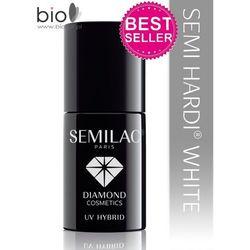 Lakier hybrydowy Semilac Semi Hardi White - budujący - 7 ml