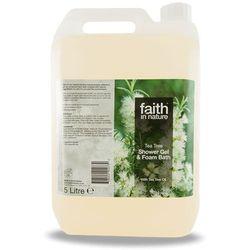 Organiczny płyn do kąpieli / żel pod prysznic z olejkiem z drzewa herbacianego, 5 litrów - Faith In Nature