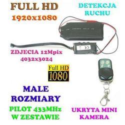 Mikro-Kamera FULL HD Nagrywająca Obraz i Dźwięk (14-dni Pracy!!) + Detekcja Ruchu..