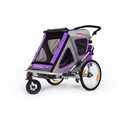 Qeridoo przyczepka rowerowa SpeedKid 2 violet model 2016 - Gwarancja terminu lub 50 zł! - Bezpłatny odbiór osobisty: Wrocław, Warszawa, Katowice, Kraków