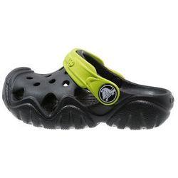 Crocs SWIFTWATER Klapki black/volt green