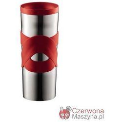 Kubek termiczny stalowy Bodum Travel 450 ml, czerwony