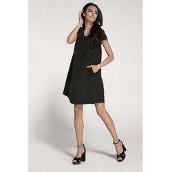 14780d2360 suknie sukienki dopasowana sukienka z dekoltem w serek morelowa (od ...