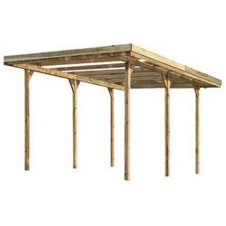 Wiata Garażowa Drewniana 304 X 500 X 230 Cm Stelmet
