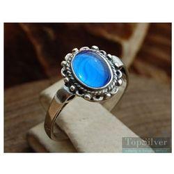 OCEAN - srebrny pierścionek z szafirem