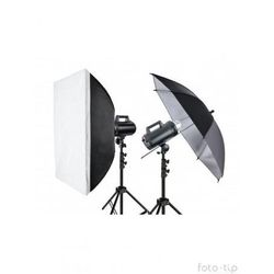 Quantuum zestaw studyjny Move 300 kit2 - 2 lampy + parasolka + softbox + statywy