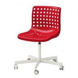 SKALBERG / SPORREN Krzesło obrotowe, czerwony, biały