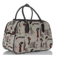 ce0ed089c4635 Mała Torba Podróżna Kuferek Or&Mi London Multikolor - Beżowa (inne wzory)