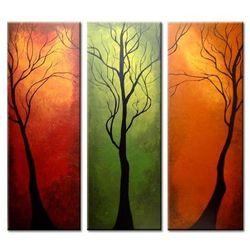 OBRAZ/TRYPTYK nastrojowe drzewa
