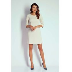 604a713596 suknie sukienki bezowa trapezowa sukienka - porównaj zanim kupisz