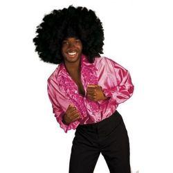 Koszula z falbanami różowa - M, - stroje/przebrania dla dorosłych