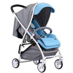 Adamex, Quatro Lion, wózek spacerowy, szaro-niebieski Darmowa dostawa do sklepów SMYK