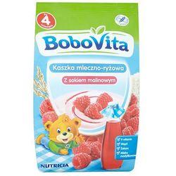BOBOVITA 230g Kaszka mleczno ryżowa z sokiem z malin po 4 miesiącu życ