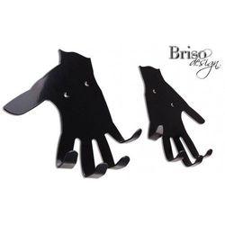 Wieszaki na klucze Dłonie, czarny połysk by Briso-desing