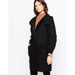 Cooper & Stollbrand Zip Duffle Coat with Hood - Black