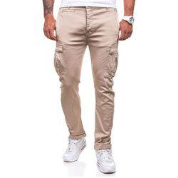 Ecru spodnie bojówki męskie Denley 8380 - ECRU Spodnie 59.99 (-14%)
