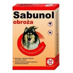 Sabunol obroża dla psa przeciw pchłom i kleszczom czerwona 50cm
