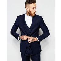 River Island Suit Jacket in Skinny Fit - Navy