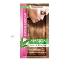Marion Aloes & Keratyna 4-8 myć (W) szampon koloryzujący w saszetce 62 Ciemny Blond 40ml