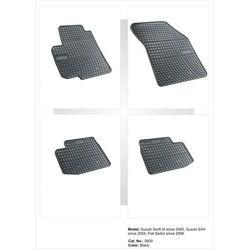 Dywaniki gumowe czarne z kompletem stoperów - Suzuki SX4 I 2006-2013