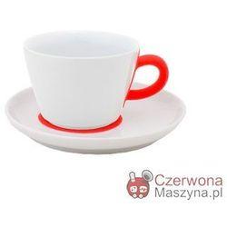 Filiżanka do cappuccino ze spodkiem Kahla touch! FIVE SENSES coral 250 ml