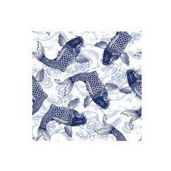 Foto naklejka samoprzylepna 100 x 100 cm - Japoński karp szwu
