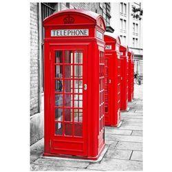 Londyn - Czerwone Budki Telefoniczne - plakat