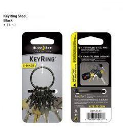 Nite Ize - S-Biner KeyRing Steel - Czarny