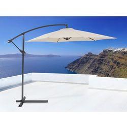 Parasol ogrodowy na wysiegniku - stojak metalowy – ø 288 cm - METALL bezowy