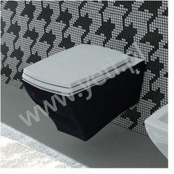 ArtCeram Jazz miska wc podwieszana czarna z deską JZV0010300