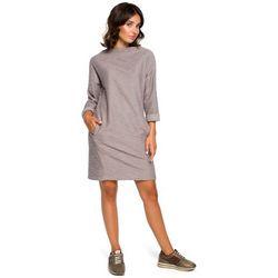 2250a3c865 suknie sukienki sukienka kieszeniami szary - porównaj zanim kupisz