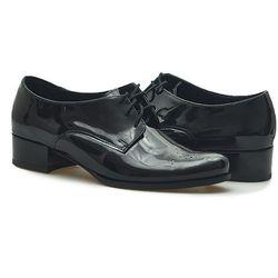 Pantofle Sagan 2025 Czarne lakier