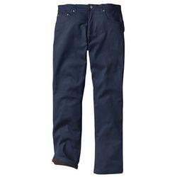 Spodnie ocieplane bonprix ciemnoniebieski