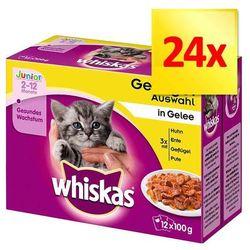 Whiskas Junior w saszetkach, 24 x 100 g - Wybór dań drobiowych w galarecie